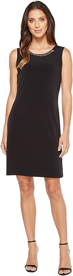 Calvin Klein - Sleeveless Dress with Rivet and Chain