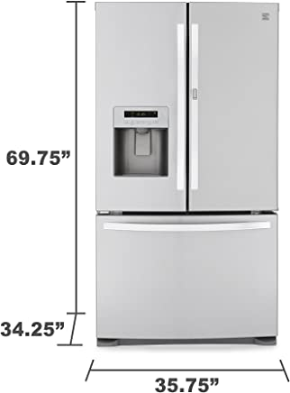Kenmore 70333 23.9 cu. ft. French Door Bottom-Freezer Refrigerator w/Grab