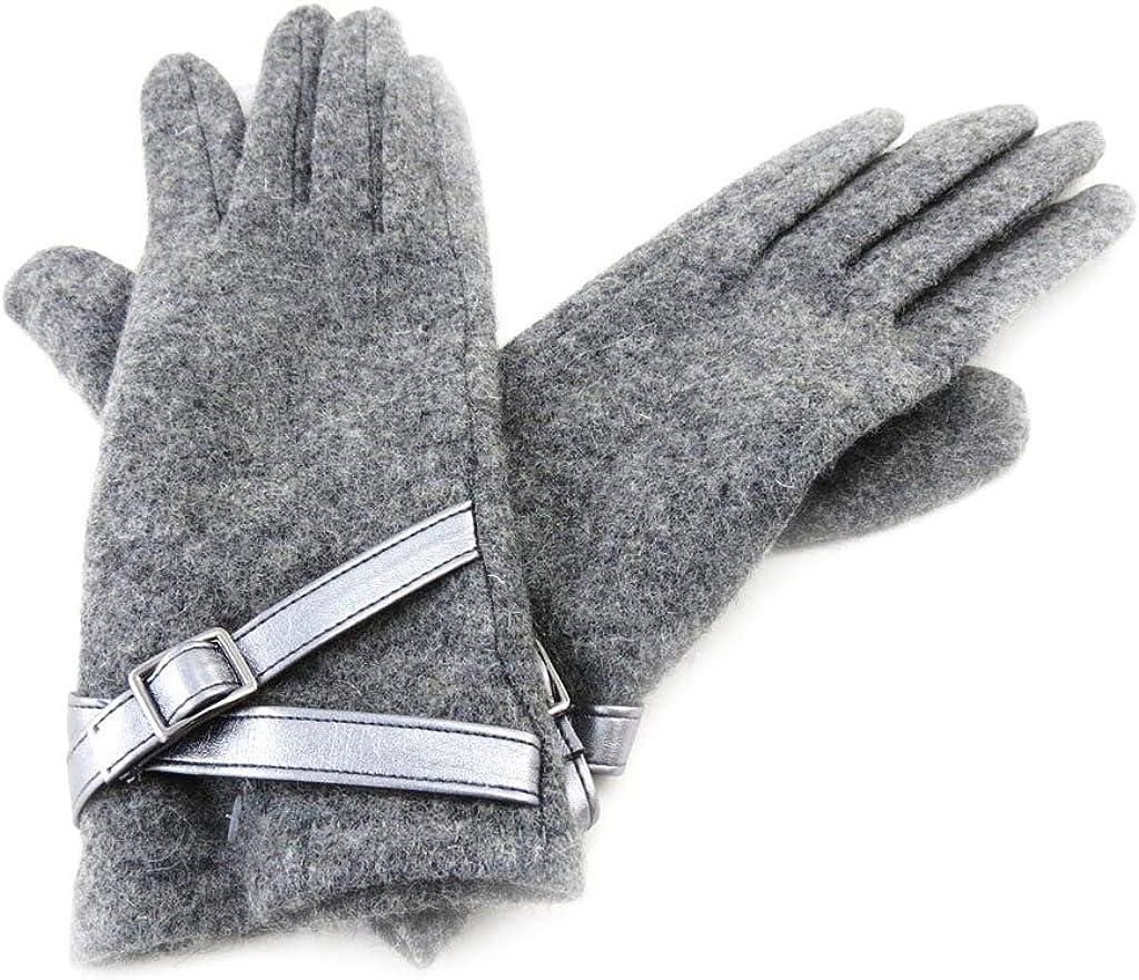 Wool gloves 'Clothilde' gray.