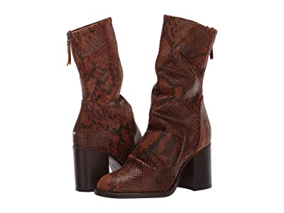 Free People Elle Block Heel Boot (Brown Combo) Women