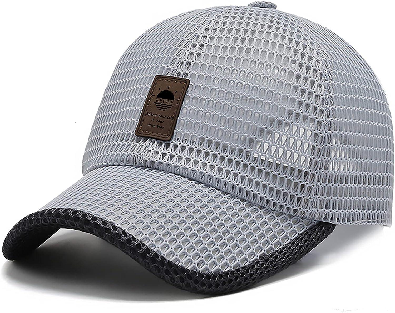 Unisex Breathable Full Mesh Baseball Cap Summer Hat Quick Dry Running hat Lightweight Cooling Water Sports HatTrucker Cap