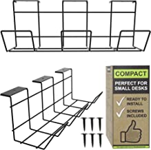 Under Desk Cable Management Tray - Under Desk Cable Organizer for Wire Management. Desk Cable Tray for Office and Home. Co...