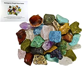 Fantasia Materials: 3 lbs Bulk Rough Madagascar Stone Mix with 30 Page Stone Info Book