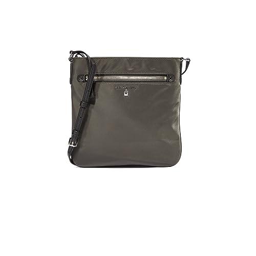 323f098b5dd6 MICHAEL by Michael Kors Kelsey Graphite Nylon Large Crossbody Bag