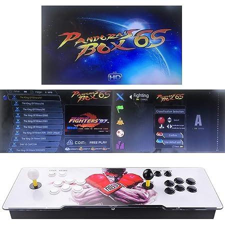 TAPDRA Classic Arcade Video Game Machine, 2 jugadores Pandora Box 6S Newest Home Arcade Console 2700 juegos todo en 1 (35 juegos 3D)