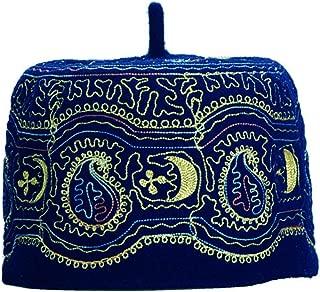 Muslim Beanie Skull Kufi Men Hat Wool Islamic Turban Headwear Embroidery Prayer Cap