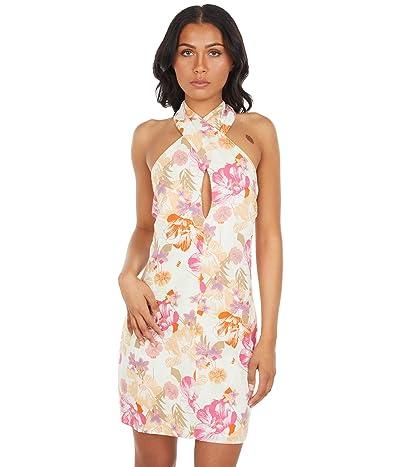 WAYF Cross Strap Halter Mini Dress