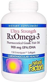 Natural Factors, Ultra Strength, (2 Pack) RxOmega-3, 900 mg EPA/DHA, 150 Enteripure Softgels