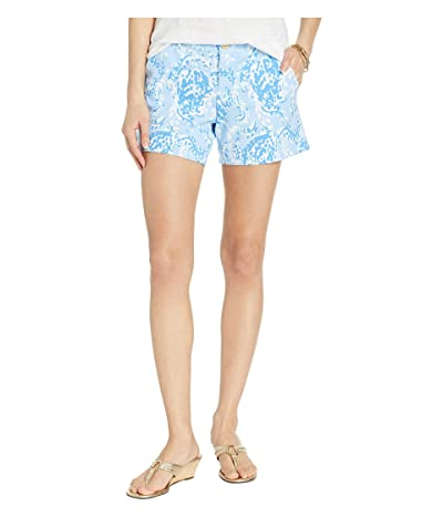 Lilly Pulitzer Callahan Knit Shorts (Blue Peri Turtley Awesome) Women