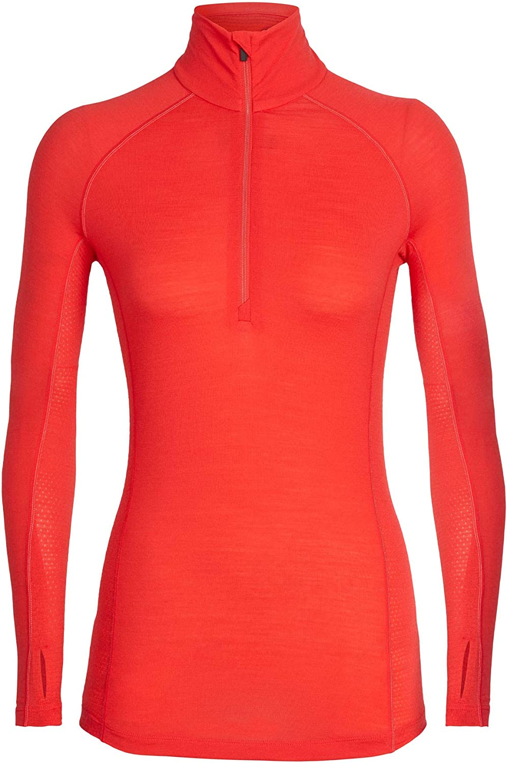 Icebreaker 150 Zone Long Sleeve Half Zip, Womens, Ember Snow, Medium, 104332602M