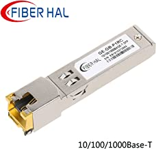 FiberHal for Cisco GLC-T Copper SFP Module, Gigabit RJ45 Mini-GBIC 10/100/1000M Auto-Negotiation Data Rate, 1000Base-T SFP Transceiver, Reach 100m
