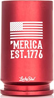 Authentic Red MERICA 30MM A-10 Warthog Shell Casing Shot Glass Made in the USA