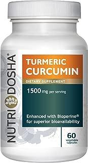 1425 mg Active Curcuminoids in 95% Standardized Turmeric Curcumin Extract with Bioperine® for Maximum Absorbency - Highest Potency Ayurveda Curcuma Longa Tumeric Root Powder,2 Pills per SVG (60 CT)
