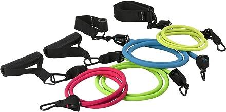 Fitness /Übungs und Widerstandsb/änder Set // 11Pcs Geschwindigkeit /Übung elastisches Seil f/ür Hallen und Freiluftsport Yoga # 01 Kraft Haltekraft Naturkautschuklatex Fitness Widerstand Band
