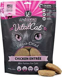 Vital Cat Freeze-Dried Mini Patties Grain Free Limited Ingredient Cat Entrée, 8 Ounce Bag