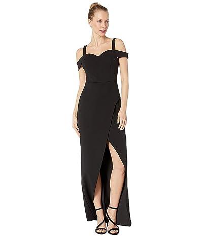 BCBGMAXAZRIA Cold-Shoulder Gown Dress (Black) Women