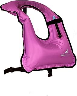 SealBuddy Inflatable Snorkel Vest Snorkel Jacket Free Diving Safety Jacket