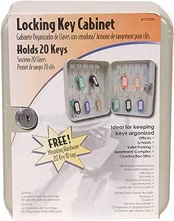 The Hillman Group 711334 Locking Key Cabinet with a Twenty Key Capacity