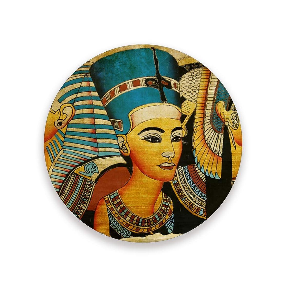黙認する進化会社コースター おしゃれ 茶パッド 古代エジプトの羊皮紙 滑り止め エコ 速乾 抗菌 消臭 4枚セット