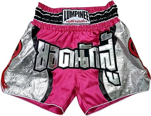 NEW Lumpinee Muay Thai Shorts Boxing Shorts Retro Diamond Red//White Thai Boxing