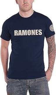 Unbekannt Ramones T Shirt Presidential Seal Band Logo Applique Nue offiziell Herren Navy