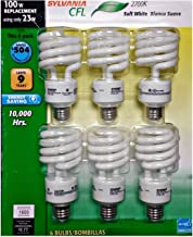Sylvania CFL 2700K 100W Replacement Bulbs (Pack of 6, Model X28161LV)