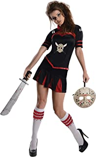 Women's Friday The 13th Cheerleader Corset Style Costume, As Shown, Large