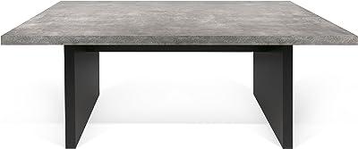TemaHome Table à Manger, béton mélaminé, Blanc, 160 x 80 x 72 cm