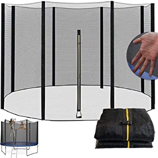 Trampoline 8Ft 10Ft 12Ft 13Ft 14Ft 16Ft Replacement Safety Net for 6/8 Straight Round Frame Trampoline Safety Enclosure Ne...
