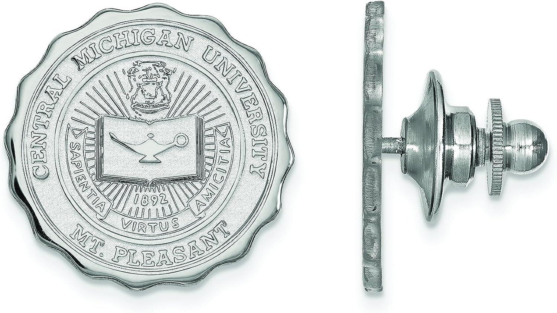 Finally resale start Detroit Mall Central Michigan Crest Lapel Pin Sliver Sterling