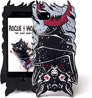 Rogue + Wolf Cute iPhone 6+ 6s+ 7+ 8+ Plus Case Protective Phone Silicone Shock-Absorption Scratch Resistant Protection Cover iphone7+ iPhone8+ Kawaii Cases for Girls - Vamp Bat (iPhone 6+ 6s+ 7+ 8+)
