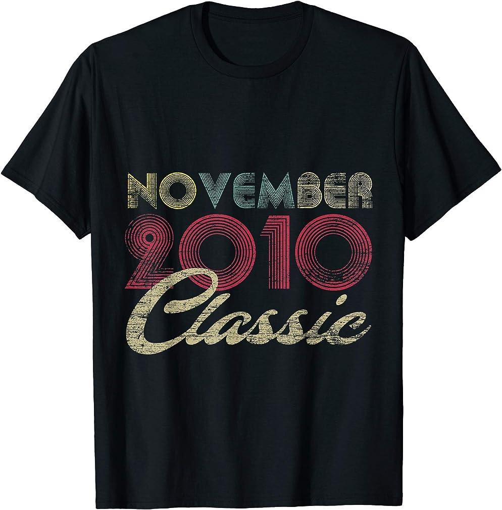 Classic November 2010 Bday Boys Girls Gifts 10th Birthday T-shirt