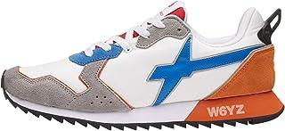 w6yz Jet-M.-Sneaker in Suede e Nylon-Bianco-Grigio Bianco 42