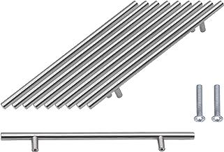 SPDYCESS 10 Stuks T-handgreep, Geborsteld Kastdeurgrepen Hardware Roestvrij Staal voor Keukenkasten Lade Meubels Handgreep...