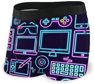 Merahans Computer Technology Neon Mens Underwear Print Boxer Brief