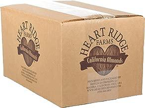 Heart Ridge Farms, Raw Whole Natural Almonds (Bulk - 10 pound box)