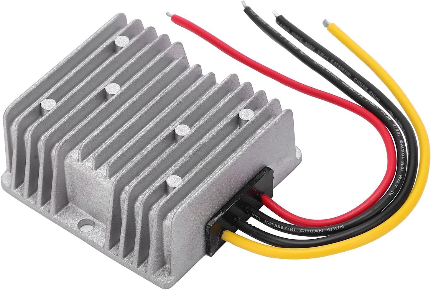 Eujgoov DC 24V to 12V Power Converter Step Down Power Supply Voltage Regulator Transformer for Motor and LED Light