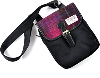 Ladies or Gents Traditional Harris Tweed and Canvas Small Crossover Messenger Bag