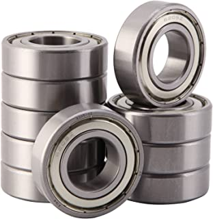 XiKe 10 Pcs 6205ZZ Double Metal Seal Bearings 25x52x15mm, Pre-Lubricated and Stable Performance and Cost Effective, Deep Groove Ball Bearings.