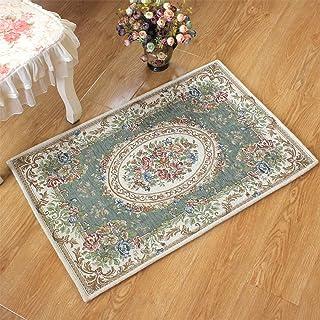 ラグ ラグマット ゴブラン織 シェニール 屋内 室内 高級感 柔らかい 北欧 絨毯 カーペット 滑り止め付き 洗える (グリーン, 60×90cm) [並行輸入品]
