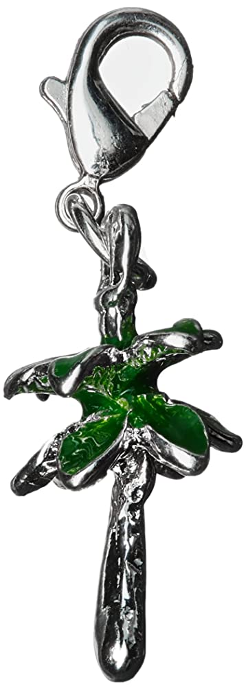 Darice 1999-7473 Lobster Clasp Charm-Palm Tree.5 x .875 Inches