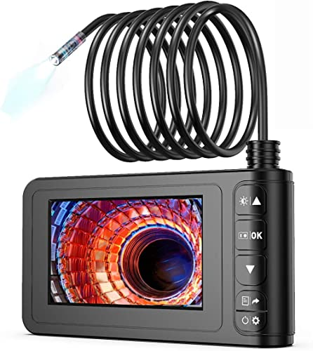 Industrial Endoscope, SKYBASIC 1080P HD Digital Borescope Camera Waterproof 4.3 Inch LCD Screen Snake Camera Video In...