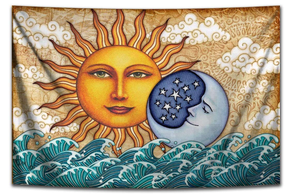 Ocean Sunrise Tapestry Wall Hanging Dedication by D Morris Dan Artist FREE Popular popular