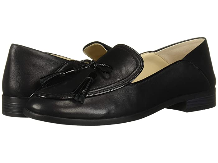 Cole Haan  Pinch Soft Tassel Loafer (Black Leather/Patent) Womens Shoes