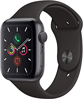 comprar comparacion Apple Watch Series 5 (GPS, 44 mm) Aluminio en Gris Espacial - Correa Deportiva Negro