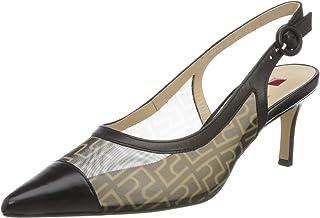 HÖGL Women's Agate Sling Back Heels, Black, 8 UK