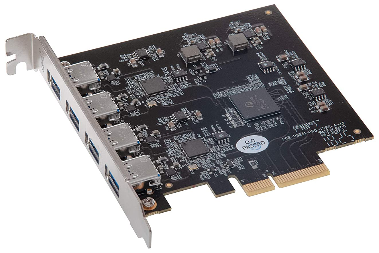 Sonnet Allegro Pro USB 3.1 Type A PCIe (Four SuperSpeed 10Gbps USB Connectors)