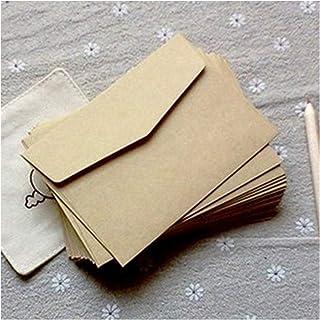 (10 Pieces/lot) 7 * 10cm Vintage Kraft Paper Envelopes Mini Greeting Card Membership Card Envelopes