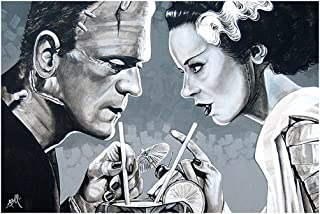 Amorous Libation by Mike Bell Bride of Frankenstein Home Tiki Bar Wall Art Print