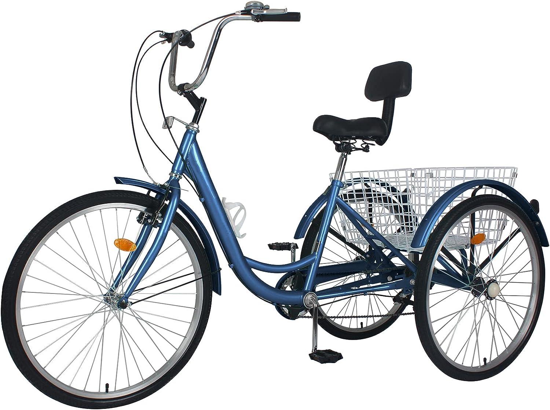 MOPHOTO セール特価 Adult Tricycles Three Wheel Bike Cruiser Speed 7 迅速な対応で商品をお届け致します